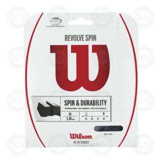 WILSON REVOLVE SPIN 16 BLACK TENNIS STRING SET
