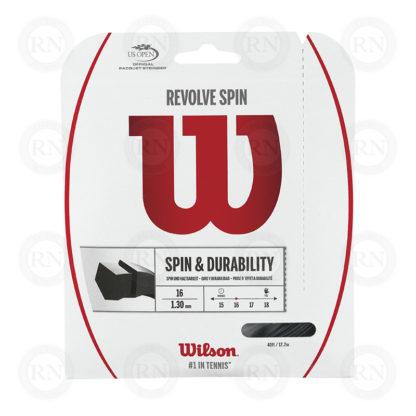 WILSON REVOLVE SPIN 16 BLACK TENNIS STRING SET