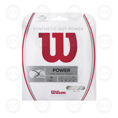 WILSON SYNTHETIC GUT POWER 16 WHITE TENNIS STRING SET