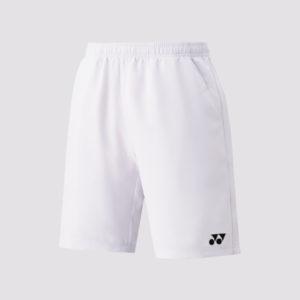 Kids White Badminton Shorts