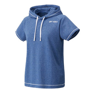 YONEX 16248 WOMENS SLEEVELESS HOODIE DARK BLUE