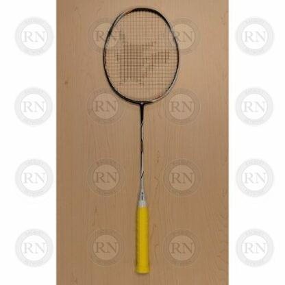 Yonex Duora Z-Strike badminton racquet with yellow supergrap and a Pikachu stencil