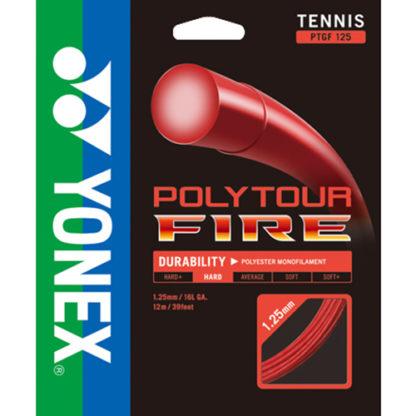 YONEX POLYTOUR FIRE 16L TENNIS STRING