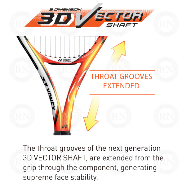 Yonex 3D Vector Shaft Tennis Racquet Technology