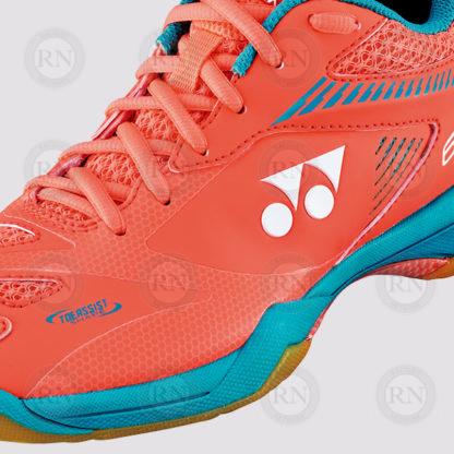 Product Knock Out: Yonex 65Z2 Ladies Badminton Shoe Coral - Close Up