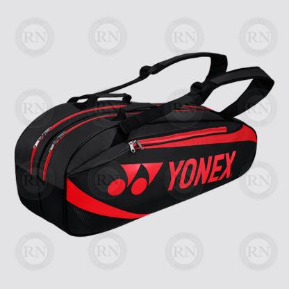 Yonex Active 6 Racquet Bag 8926 - Black Red - Full