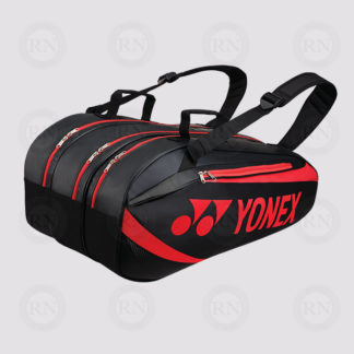 Yonex Active 9 Racquet Bag 8929 - Black Red - Full
