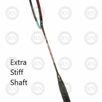 Product detail showing the shaft of a Yonex Astrox 100 ZZ badminton racquet