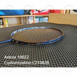 Catalog image of a fully customized Yonex Astrox 100ZZ badminton racquet