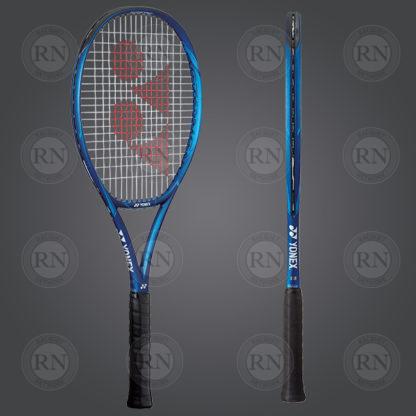 Product Knock Out: Yonex Ezone Game Tennis Racquet - Blue - Dual View