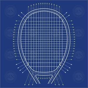 Illustration of Yonex Liner Tech Tennis Racquet Technology