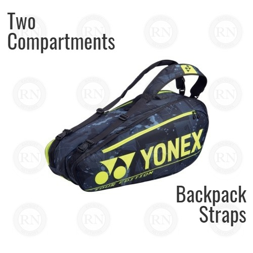 Yonex Pro Series 92026 Racquet Bag in Black and Yellow