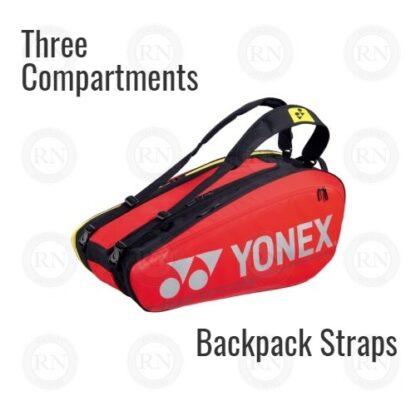 Yonex Pro Series 92029 Racquet Bag in Red