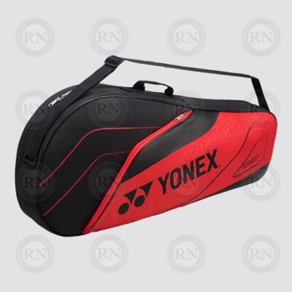 Yonex Team 3 Racquet Bag 4923 - Black Red - Full