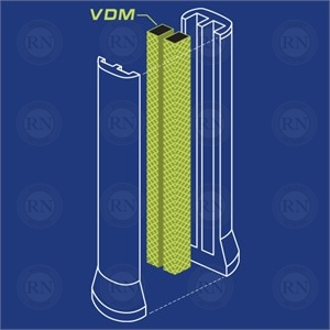 Illustration of Yonex Vibration Dampening Mesh Tennis Racquet Technology
